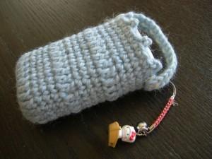 手編み携帯ケース
