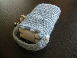 手編み携帯ケース上部