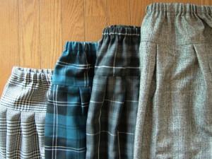総ゴムのスカート4種
