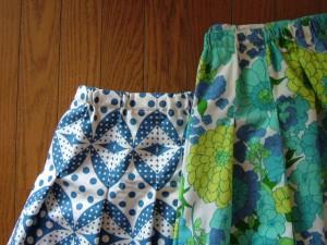 総ゴムのスカート2種