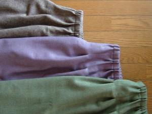 ウエストゴムのスカート3種