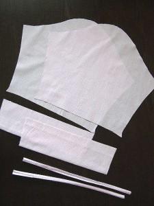 7分袖ブラウス、袖とリボンパーツ