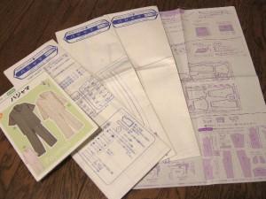 パジャマのパターン(型紙)