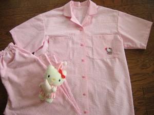 ピンク系レディス半袖パジャマ完成