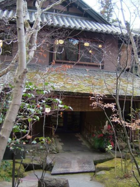 山荘天水の玄関