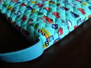 防災頭巾入れ兼用座布団カバー、完成図