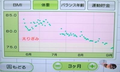 夫グラフ3ヶ月