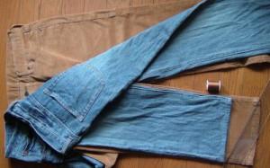 パンツの丈詰め準備