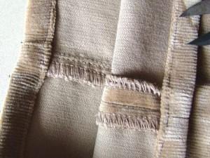 裾の三つ折り縫えました