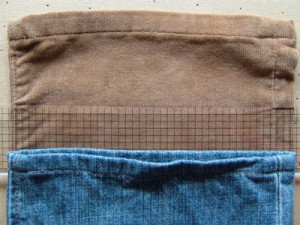 パンツの丈詰め、裾をカット