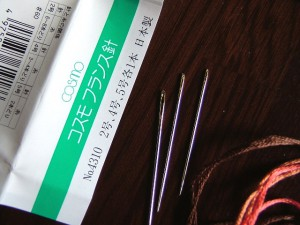 刺繍キットにセットの刺しゅう針
