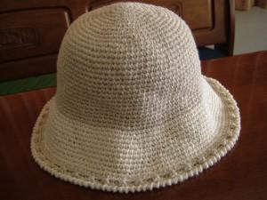 手編み帽子、本体完成