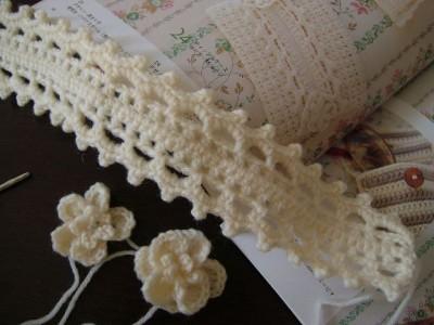 手編みのヘアバンド