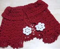 かぎ針編みのケープ完成