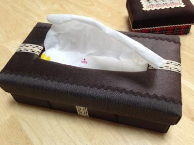 布箱のボックスティッシュケース