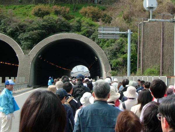 トンネルに向かうところ