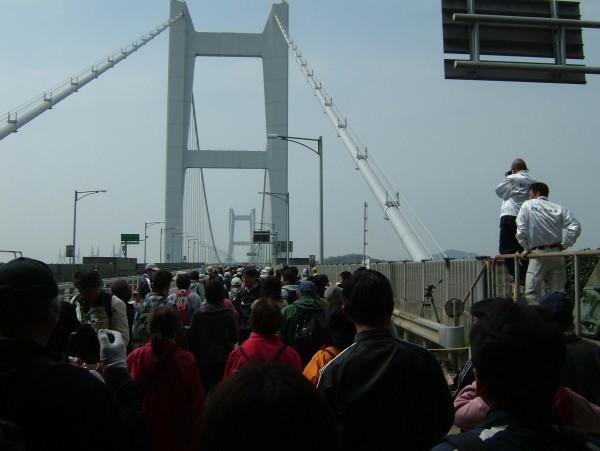 瀬戸大橋の上に到達