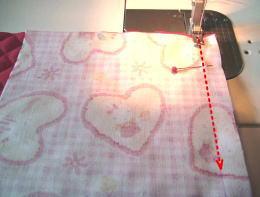 切り替え位置を縫う