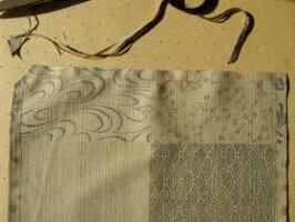 ランチョンマット縫いしろをカット