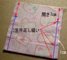 コップ袋の縫う位置