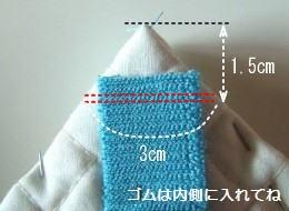 ゴムの位置関係図